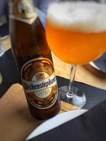 detalle de la Weihestephaner Vitus (cerveza de trigo alemana)